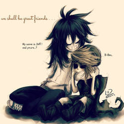 JeffxBen- We shall be great friends!!! by LiizEsparza-Chan