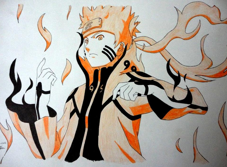 My boyfriend got me addicted to anime features by tld7 - Naruto kyubi dessin ...