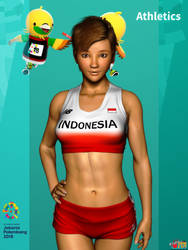 Asian Games 2018: Athletics by Buaya-kun