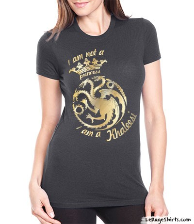 I 39 m not a princess i 39 m a khaleesi t shirt by Where can i buy game of thrones t shirts