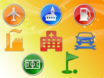 POI Vector Icons