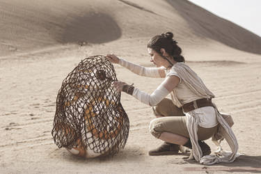 Rey and BB8