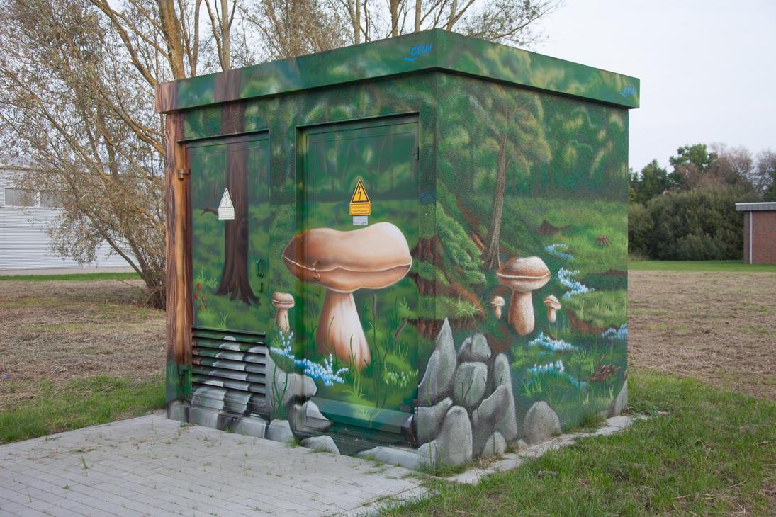 Painted transformer station #2 by JoergJohannMueller