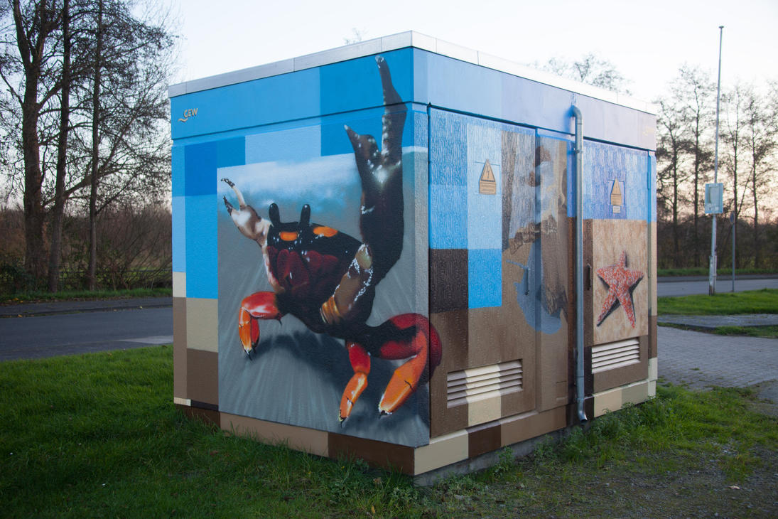 Painted transformer station #5b by JoergJohannMueller