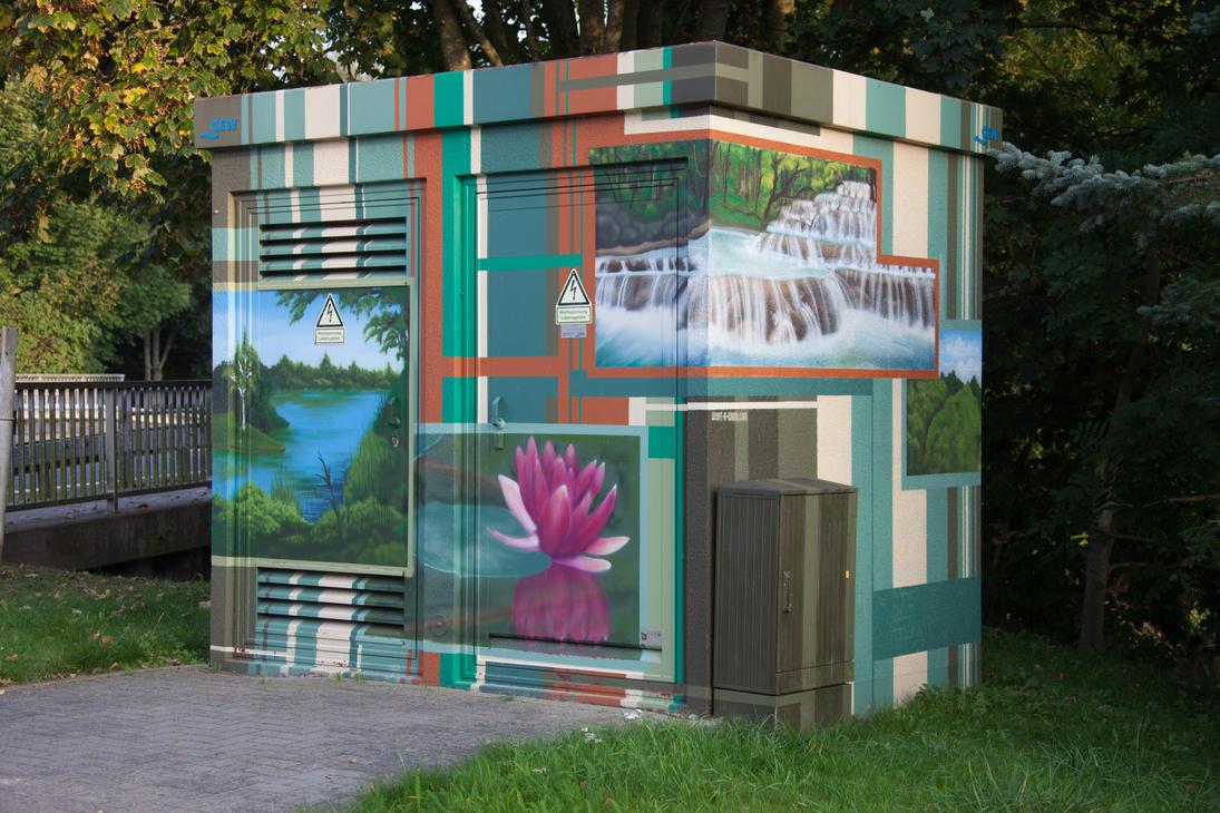Painted transformer station #7a by JoergJohannMueller
