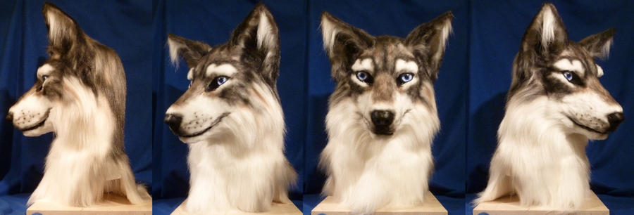 Wolf Fursuit Mask by zyxwen