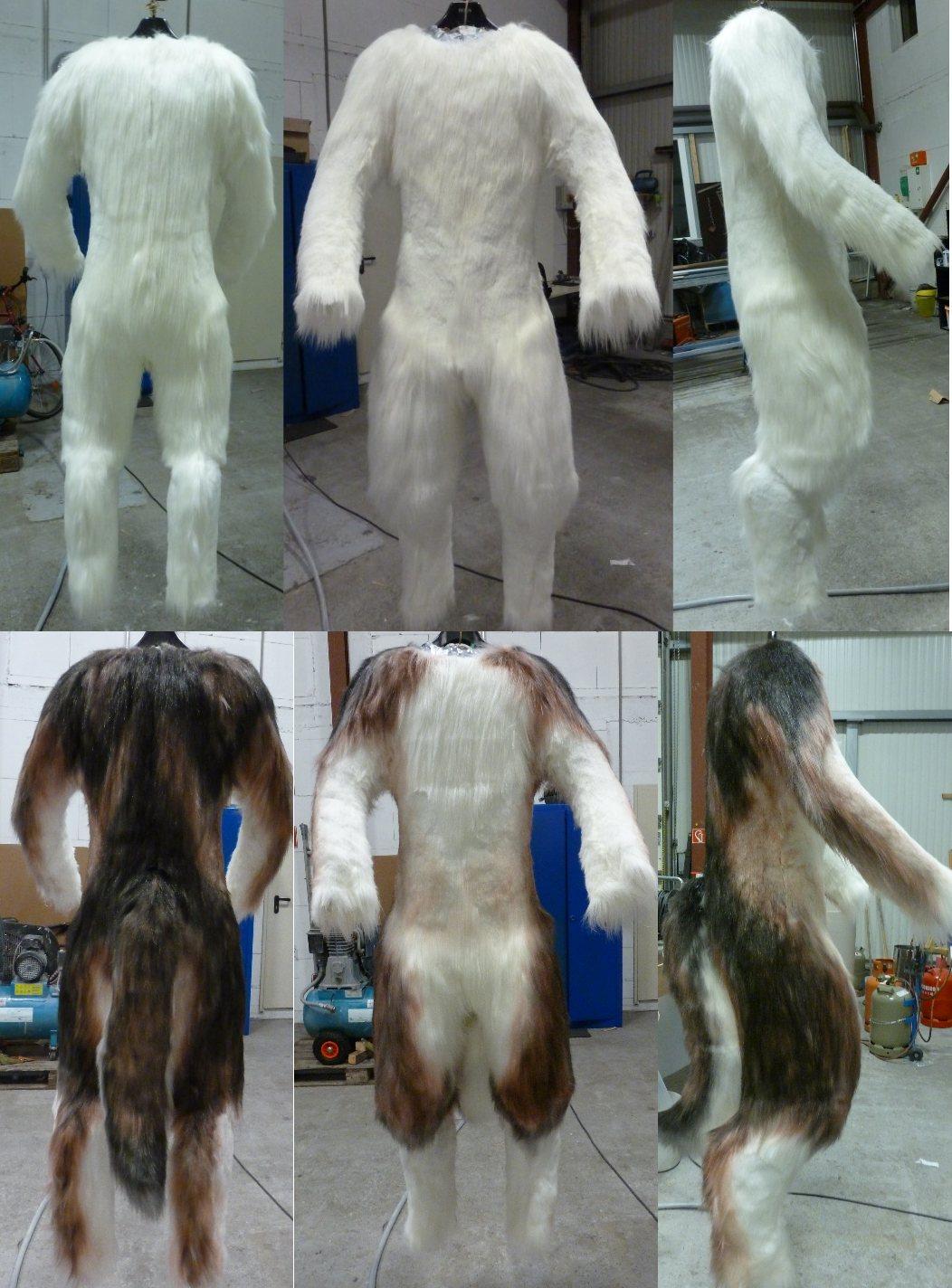 Airbrushing Wolf Fursuit Bodysuit by zyxwen