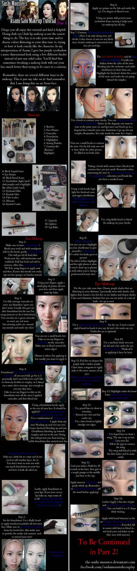 Asami Sato Makeup Tutorial Part One