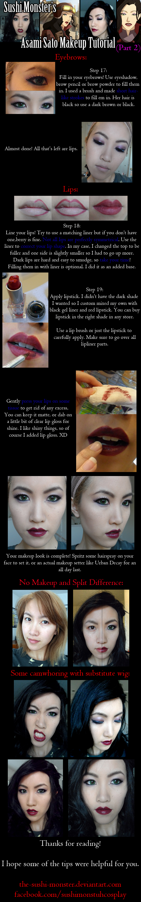 Asami Sato Makeup Tutorial Part Two by the-sushi-monster