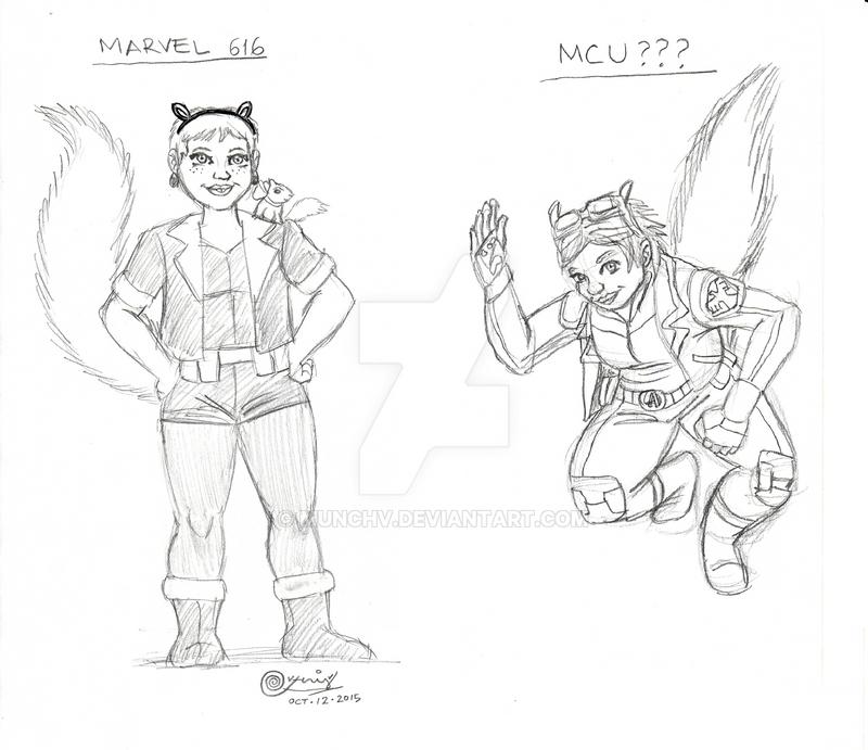 Vernedi Doodles Episode 3: MCU Squirrel Girl by MunchV