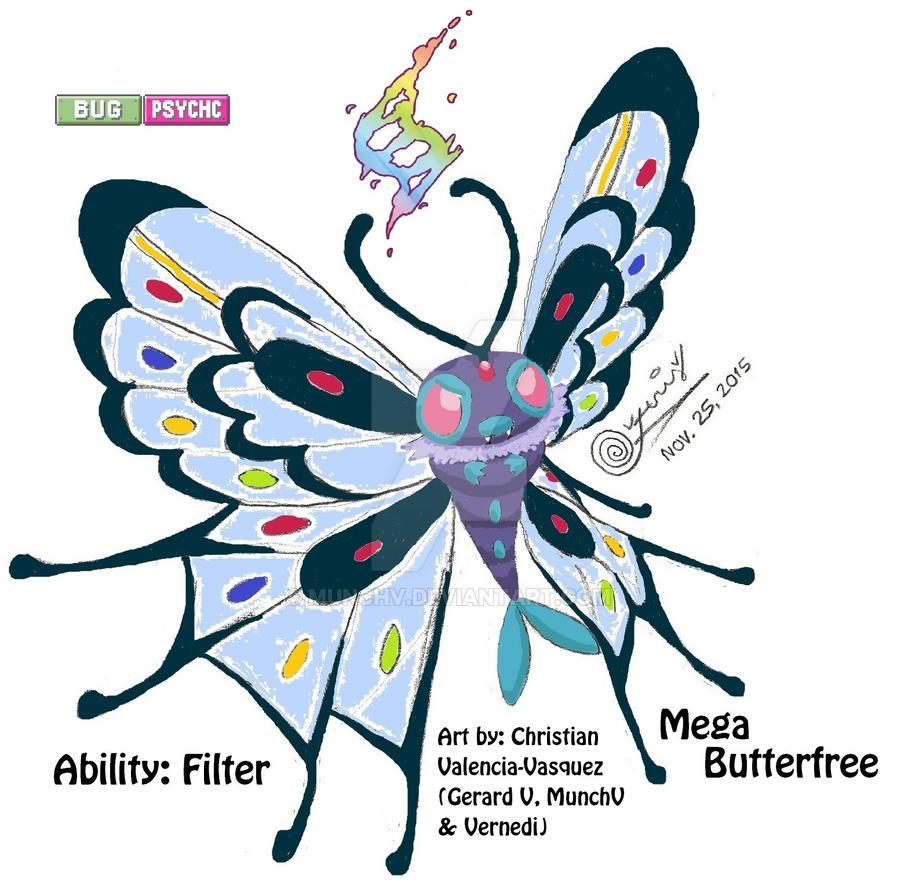 Mega Butterfree by Gerard V (MunchV) by MunchV