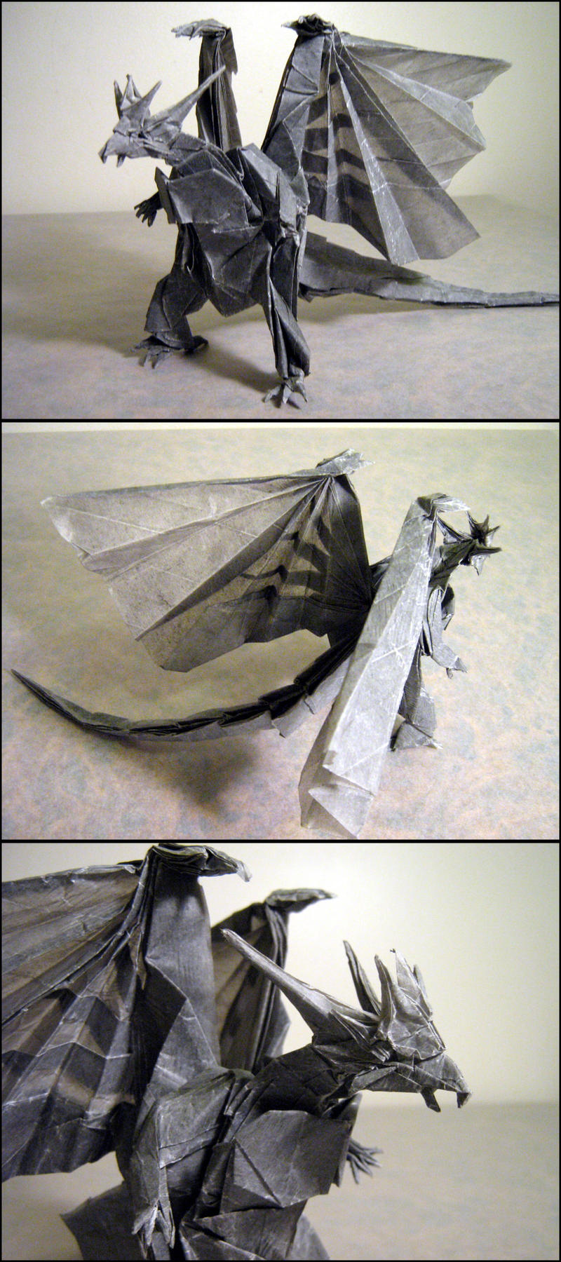 Origami Bahamut by Lexar- on DeviantArt  Origami Bahamut...