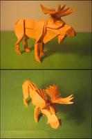Origami Moose by Lexar-
