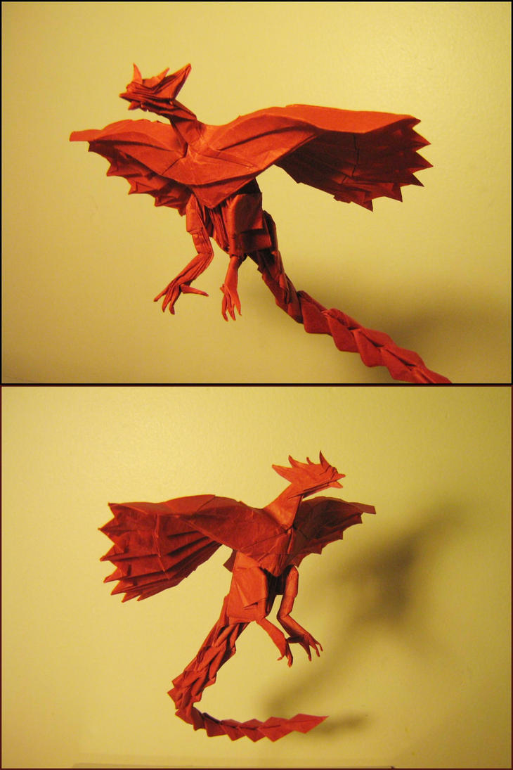 Origami Phoenix by Lexar-