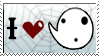 I Heart Ghosts Stamp