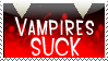 Vampires Suck Stamp by bizarrostamps