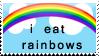 I Eat Rainbows Stamp