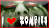 I Heart Zombies Support Stamp by bizarrostamps