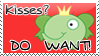 Kisses DO WANT Stamp by bizarrostamps