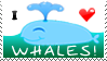I Heart Whales Support Stamp by bizarrostamps