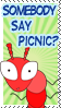 Somebody Say Picnic Ant Stamp by bizarrostamps