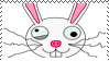 Crazy Bunny Stamp by bizarrostamps
