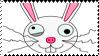 Crazy Bunny Stamp by bizarrostamps