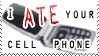 I Ate Your Cell Phone Stamp by bizarrostamps