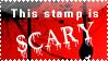 Scary Stamp by bizarrostamps