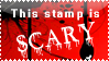 Scary Stamp by bizarrostamps