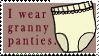 I Wear Granny Panties Stamp by bizarrostamps