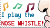 I Play the Nose Whistle Stamp by bizarrostamps