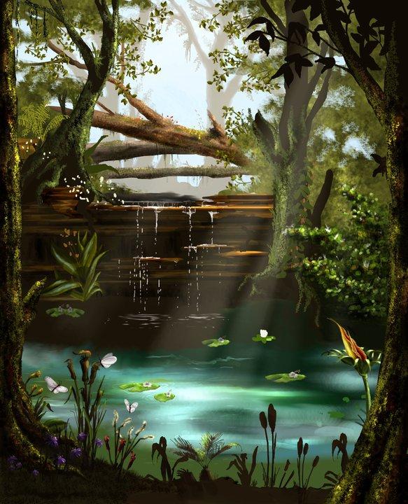 Forest Pool by bradlyvancamp