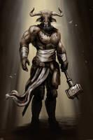 Minotaur Warrior by bradlyvancamp