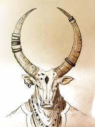 Minotaur-Noble Herd by bradlyvancamp