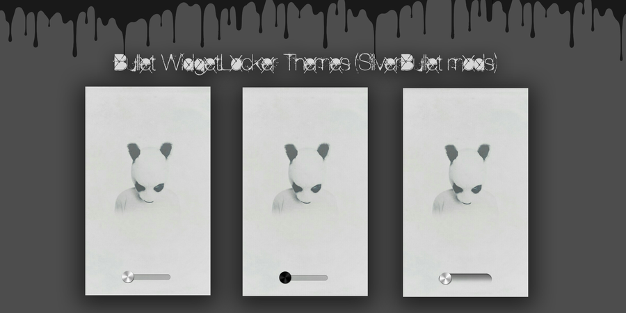 "Bullet WidgetLocker Themes ""SilverBullet Mods by morgynbrytt"