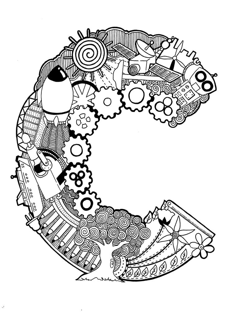 Doodle: The Letter C by PsychoKIRA on DeviantArt