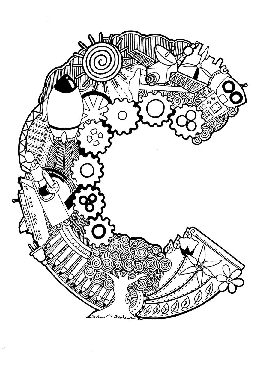 Doodle The Letter C By Psychokira Designs Interfaces Other 2012 2015