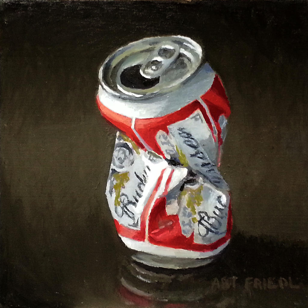 Crushed Budweiser Beer Can by friedl66b on DeviantArt  Crushed Beer Can