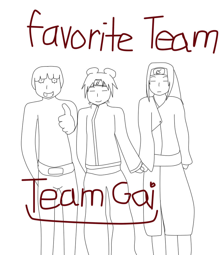 Naruto Drawing Challenge: Day 2 Favorite Team By Hynoryuu