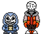 Shattered Anomalies Sans and Papyrus OW sprites
