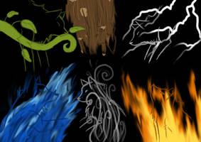 elemental wolves by letter0