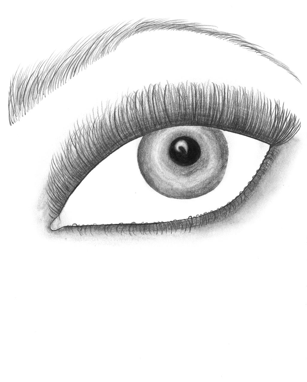 Eye Drawing By FrostyMartiniGlass