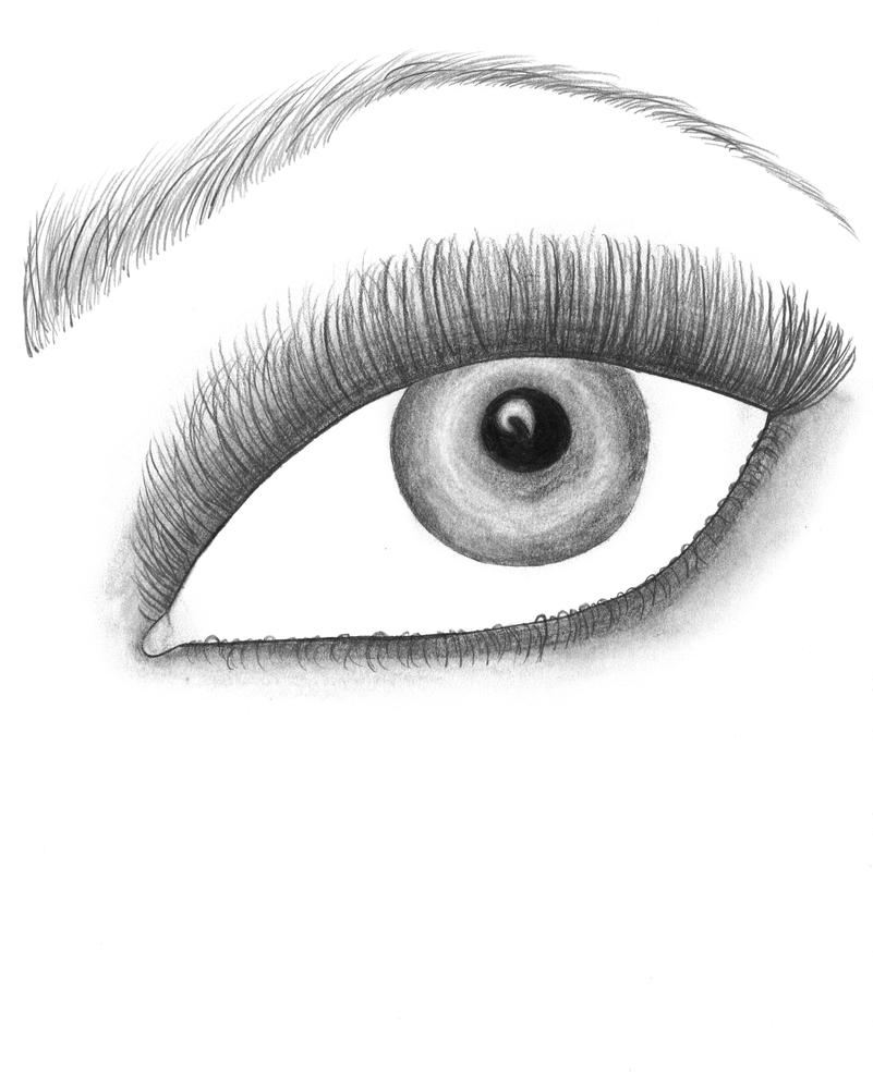 how to draw eyes easy