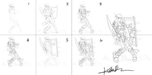 Fluire Line Art --Steps--