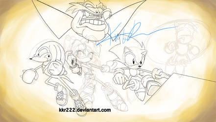Sonic Tribute Sketch by DigiFlohw