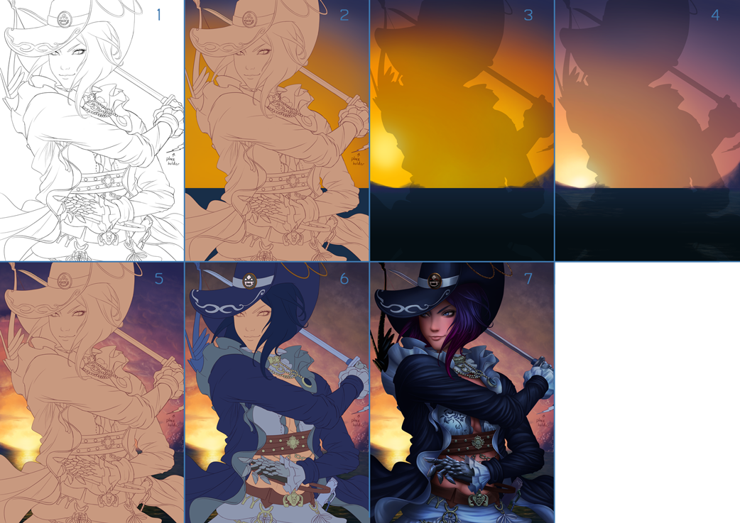 BDO Pirate Fan Art Contest (Process) by DigiFlohw