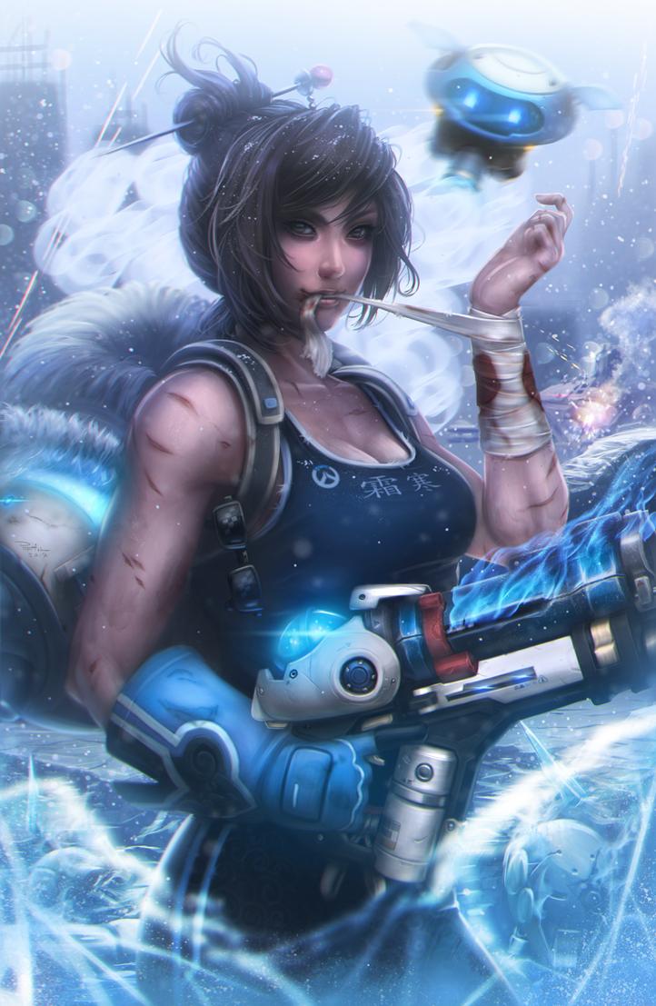 Frostbite (Overwatch) by DigiFlohw