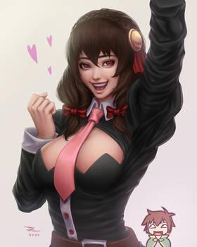 Excited Yunyun (Konosuba)
