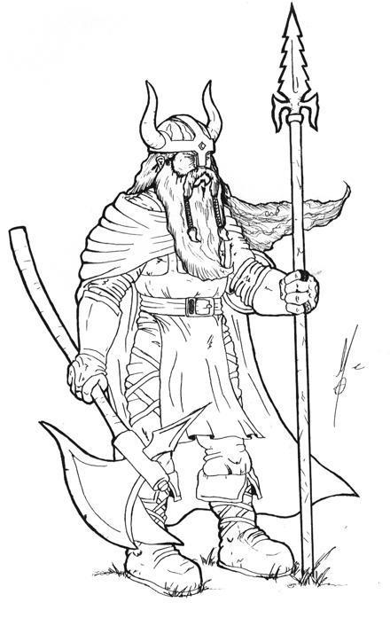 Line Art Generator From Image : Viking by novedepaus on deviantart